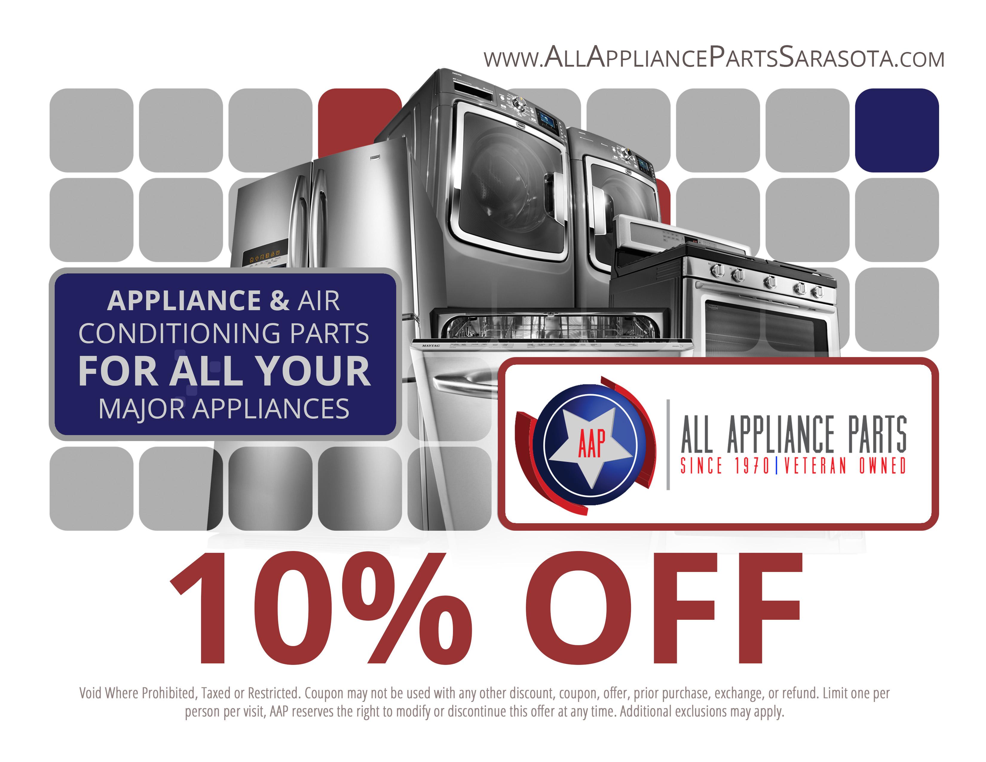 Savings All Appliance Parts Of Sarasota And Bradenton Fl